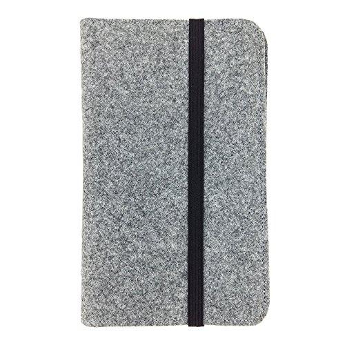 handy-point 9.1 - 10.1 Zoll Organizer Tablet Tasche aus Filz Filztasche Filzhülle Hülle Tablethülle Schutztasche Schutzhülle mit Kartenfach, Universal für Tablet, grau (9.1 - 10.1'', Gra