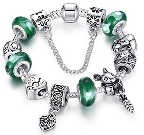 SaySure - 925 Silver FriendShip Charm bracelet for Women DIY