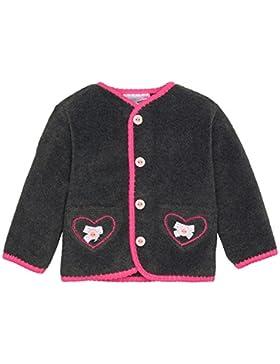 Trachtenjäckchen Cardigan Trachtenjacke Mädchen Gr. 80 - grau / Pink Herzchen & Knöpfe