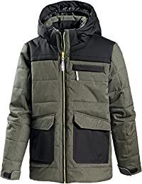 ICEPEAK Niños chaqueta acolchada, oliv/melange, 164