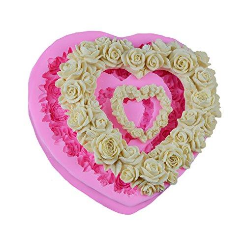 lütenblätter Form Silikon Kuchen Backform 3D Schimmel Handseife Küchenwerkzeuge 1 Stück (Blütenblatt Silikon-schimmel)