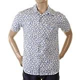 Evisu Deluxe 1Tasca precoce Originale raro ES03MSS22A TE09Inchiostro Blu Fiorito Shirt EVIS0140 Blue Medium
