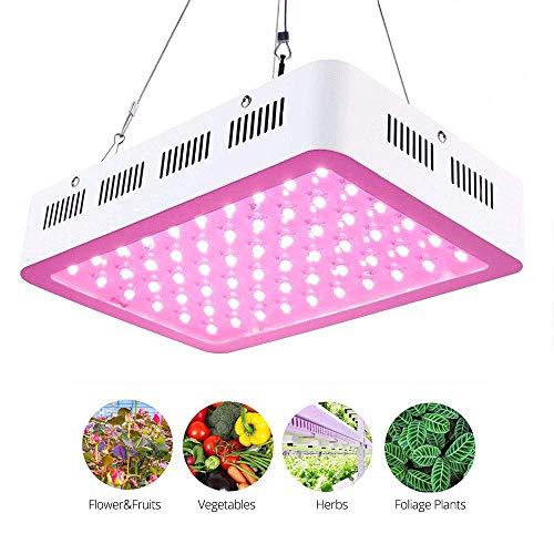 Roleadro Lampe Horticole Led Floraison 300W Spectre Complet pour Plante Croissance 5W Chip Led Culture Indoor