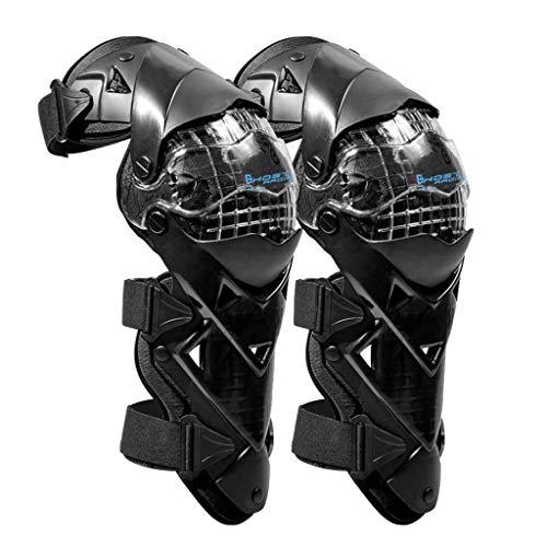KESOTO 2 Stück Motorrad Knieschützer Knieprotektor Knee Schutz Protector Schutzausrüstung für Rennen Skifahren Skaten, Schwarz
