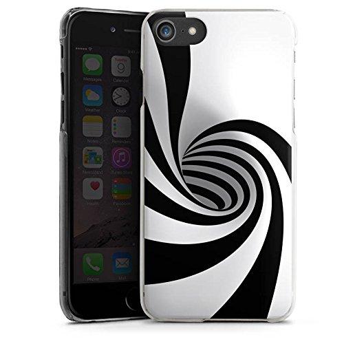 Apple iPhone X Silikon Hülle Case Schutzhülle Spirale Illusion Tunnel Hard Case transparent
