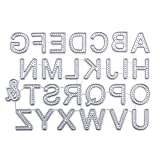 Xurgm Stencil a Forma di Babbo Natale con Lettere, per Scrapbooking, Embossing Machine, per Sizzix Big Shot/Cuttlebug