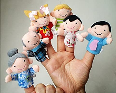 Tonsee 6 Pcs Finger Even Storytelling Good Toys Hand Puppet For Baby's Gift