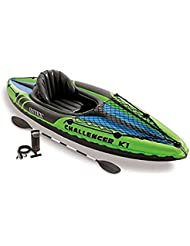 Intex - Kayak hinchable Intex challenger k1 & 1 remo - 274x76x33 cm - 68305NP