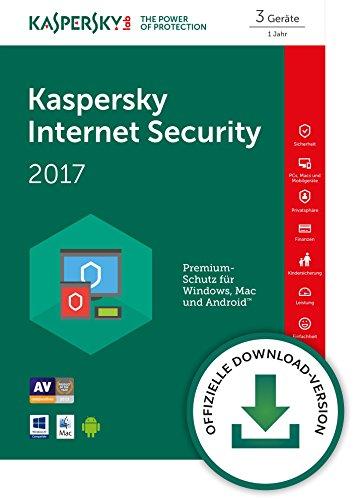 Produktbild Kaspersky Internet Security 2017 3 Geräte [Download]