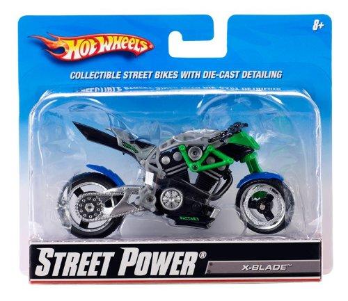 Imagen principal de Mattel - R1090 - Vehículo sin pilas - Hot Wheels - Motos 1 / 18 - X-Street Hoja de alimentación - Gris / Verde