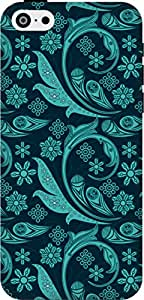 The Racoon Lean printed designer hard back mobile phone case cover for Apple Iphone 5c. (Turquoise)