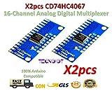 2pcs CD74HC4067 16-Channel Analog Digital Multiplexer Breakout Board Module   2 stücke 16 Kanal Analog Digital Multiplexer Modul CD74HC4067 für Arduino Rasperry Pi