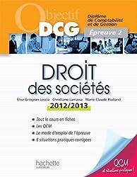 Objectif DCG Droit des sociétés 2012/2013