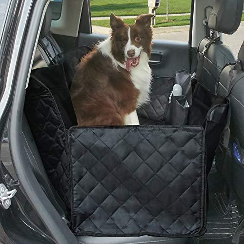 Tech Traders® Hochwertiger Hunde-Sitzbezug mit Klappen, Hundehängematte, wasserfest, kratzfest, rutschfeste Rückseite, 600D-Oxfordstoff, Hängematte mit extra Seitenklappen, ideal für Autos, Lkw, SUVs