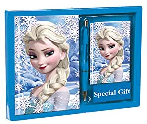 Frozen - Set con agenda, rubrica e penna, 24 x 18 cm (Montichelvo 51403)