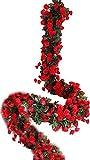 Lannu Lot de 2 guirlandes de Roses artificielles en Soie à Suspendre pour décoration de fête de Mariage
