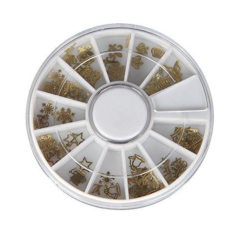 FACILLA® 120PCS Paillette en Métal Déco pour Ongles Faux Naturels Gel UV + Boîte