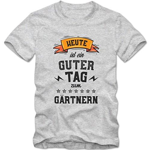 Gärtnern Premium T-Shirt | Hobbyshirt | Garten | Grüner Daumen | Herren | Shirt, Farbe:Graumeliert...