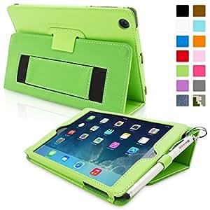 Snugg™ iPad Mini & Mini 2 Case - Smart Cover with Flip Stand & Lifetime Guarantee (Green Leather) for Apple iPad Mini & Mini 2 with Retina