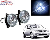 #7: Auto Pearl - High Power Premium Quality 3 LED DRL Fog Lamp Assembly For - Mahindra Logan