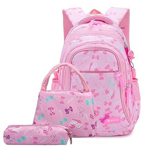 XSWZAQ Borsa da Scuola for Bambini Zaino da Scuola Femminile Borsa Carina Borsa da Pranzo isolata for Laptop Bambini Adolescenti 6-12 Anni (Color : A)