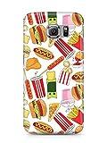 COVER Comic Fast food Essen weiss Design Handy Hülle Case 3D-Druck Top-Qualität kratzfest Samsung Galaxy S6
