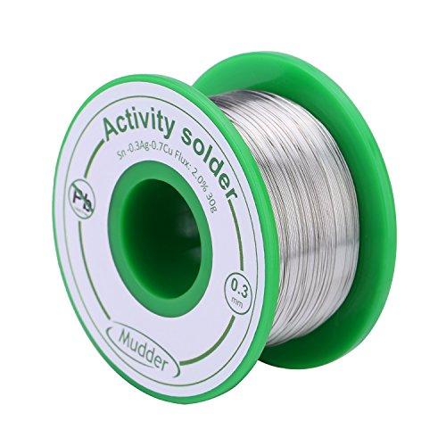 mudder-03-mm-lead-free-solder-wire-sn99-ag03-cu07-with-rosin-core-for-electrical-soldering-30-g