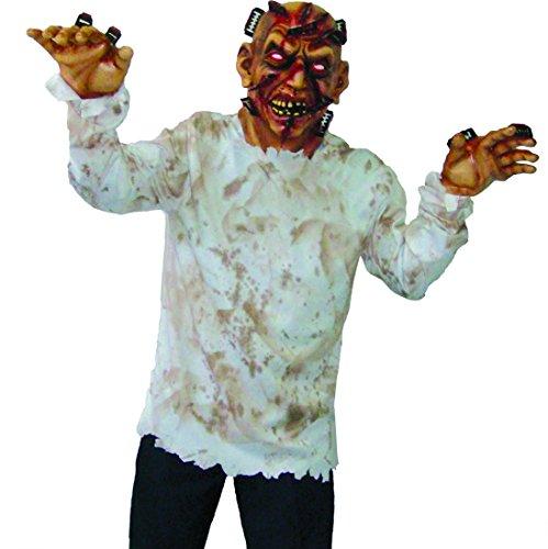 erdbeer-clown - Herren Karnevals-Kostüm Set Zombie Razorman, Rasierklingenmann, One Size, Mehrfarbig