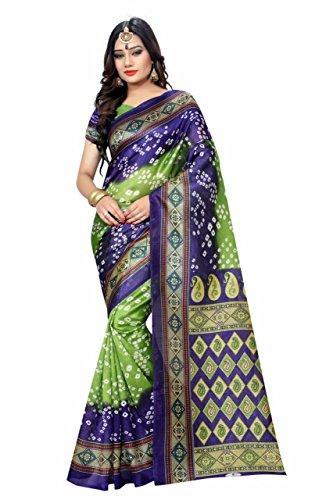 Clothfab Silk Saree(Bandhani-21_Multi_Free Size)