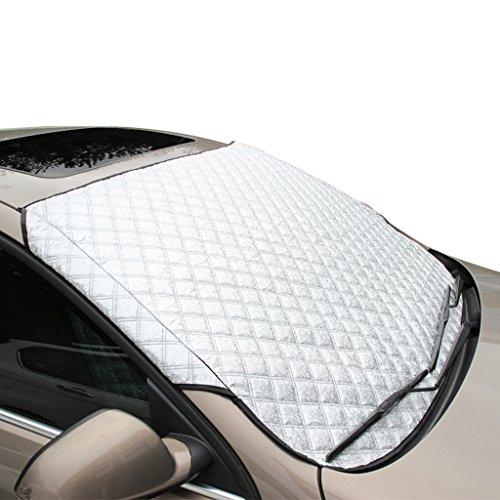 FuriAuto- Winter + Sommer Auto Abdeckung Scheibenabdeckung Sommer Abdeckung sonnenschutz Schneeschutz Windschutzscheiben Abdeckung sonne abdeckung