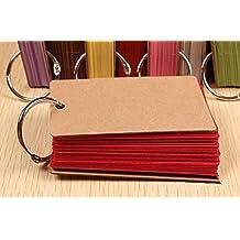 Lenhart - Confezione da 2raccoglitori ad anello per flash card e appunti di studio, con 50 pagine vuote senza righe e facili da girare Red - Blocchi Nursery Abc