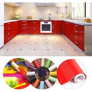 kinlo selbstklebende folie k che rot 61x500cm aus. Black Bedroom Furniture Sets. Home Design Ideas