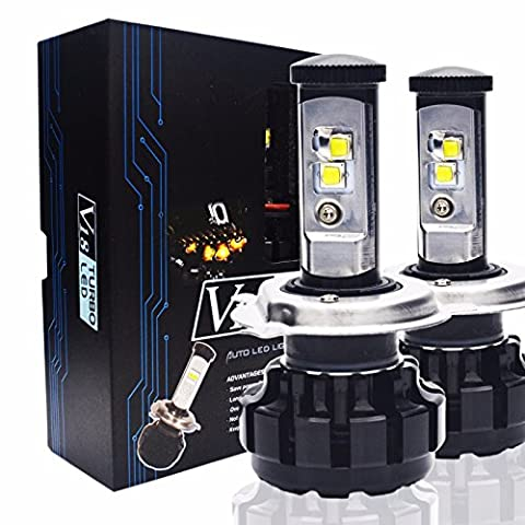 Keewors V18 LED Headlight Bulbs H4 (9003 Hi/Low) -7,200Lm 80W