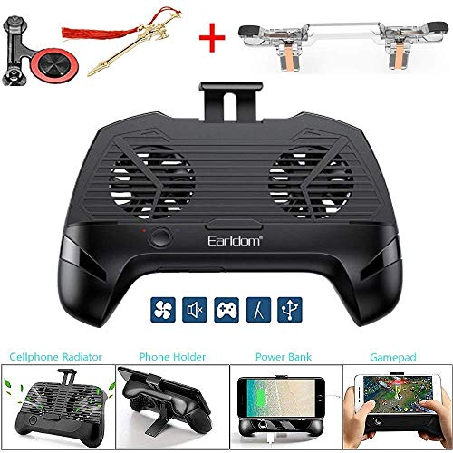 Unterhaltungselektronik 2000 Mah Ladegerät Power Bank Flexible Bedienung Wärmeableitung Lüfter Gamepad Joystick Hand Grip Für Handy Pubg Videospiele