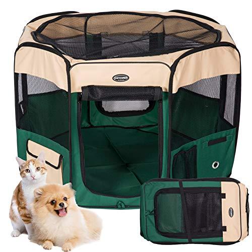 KaKa Mall Welpenlaufstall für Hunde Faltbar Laufstall Hund Waschbar Tierlaufstall für Hunde Katzen 8 Plattens