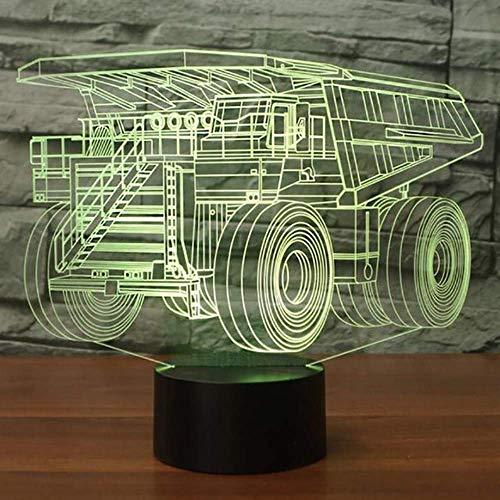 Bunter Tischlampe-Schlafzimmer-Dekor der USB-Strecken-LKW-Form-3D führte das Kind-Auto, das Nachtlicht-Geschenk-helle Befestigung modelliert