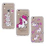 3X Coque iPhone 7 8, E-Unicorn Housse Étui Coque Apple iPhone 7 8 Transparent...
