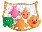 Bieco 11000105 - Badewannennetz mit 5 Tiere