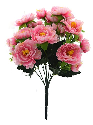 Fourwalls Gorgeous Synthetic Artificial Peony Bunch (40 cm, Pink, Set of 1)