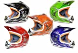 MATT Helm Kinderhelm Motorradhelm Crosshelm Motocrosshelm Sport (Orange, M)