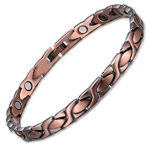 Rainso Magnetisches Kupfer-Armband, gut für Arthritis, verstellbar
