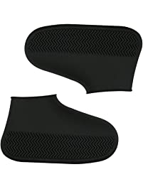 AOLVO - Cubierta de Silicona Reutilizable para Zapatos de Lluvia, Impermeable, Antideslizante, Lavable