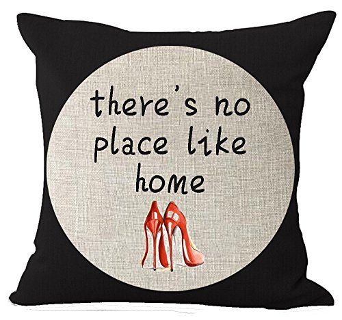 yesliy American Country Fresh Floral Englisch Sweet Spruch There 's No Place Like Home Baumwolle Leinen Überwurf Kissen Fall Personalisierte Kissenbezug New Home Office Innen Deko Square 45,7x 45,7cm