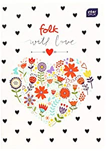 Interdruk ZE60FOL#- Libro de Ejercicios A5 60#UV Collection Folk, Multicolor