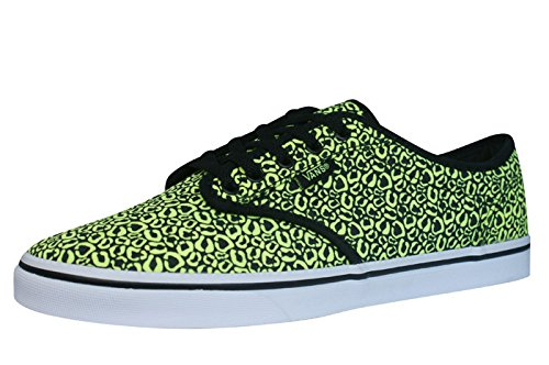 vans w atwood low sneaker (cheetah) neon yellow / Vans W Atwood Low Sneaker (Cheetah) Neon yellow / 51wcrkfrxCL