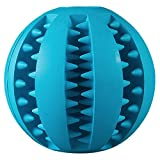 Rubber Dog Toy Chew Toy Treat Ball Pet Dog Rubber Ball Pet Snack Ball Pet Toy Balls for Pet Training Playing Chewing Toy- 2.75 Inch (Blue)