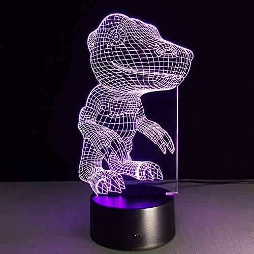 3D Nachtlicht 7 Farbe Monster Lampe 3D Visuelle Led Nachtlichter Für Kinder Touch Usb Tabelle Baby Schlaf Nachtlicht Touch