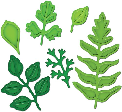 Spellbinders, Kit di fustelle, design foglie, 6 pz., Oro (gold)