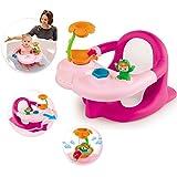 Baby-Badesitz und Activity-Tablett mit Schaufelrad, 49x26 cm, pink - Badespaß Badewannen-Sitz Babysitz rosa Baby Bade Spielzeug