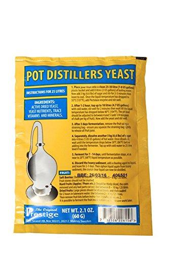 'Prestige' Turbohefe ✿ Pot Distillers Brennereihefe ✿ für 25 Liter feine Obstmaische